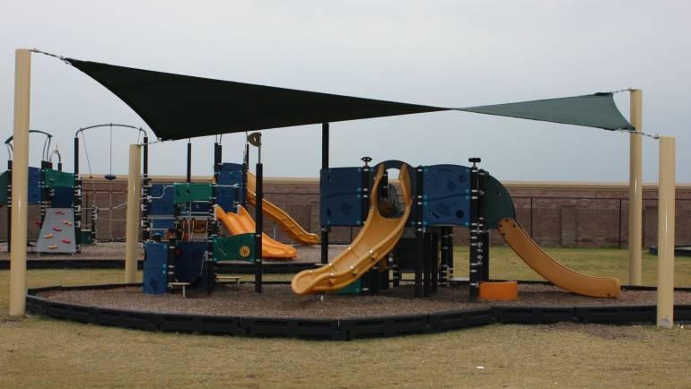 Playground and Shade Awning